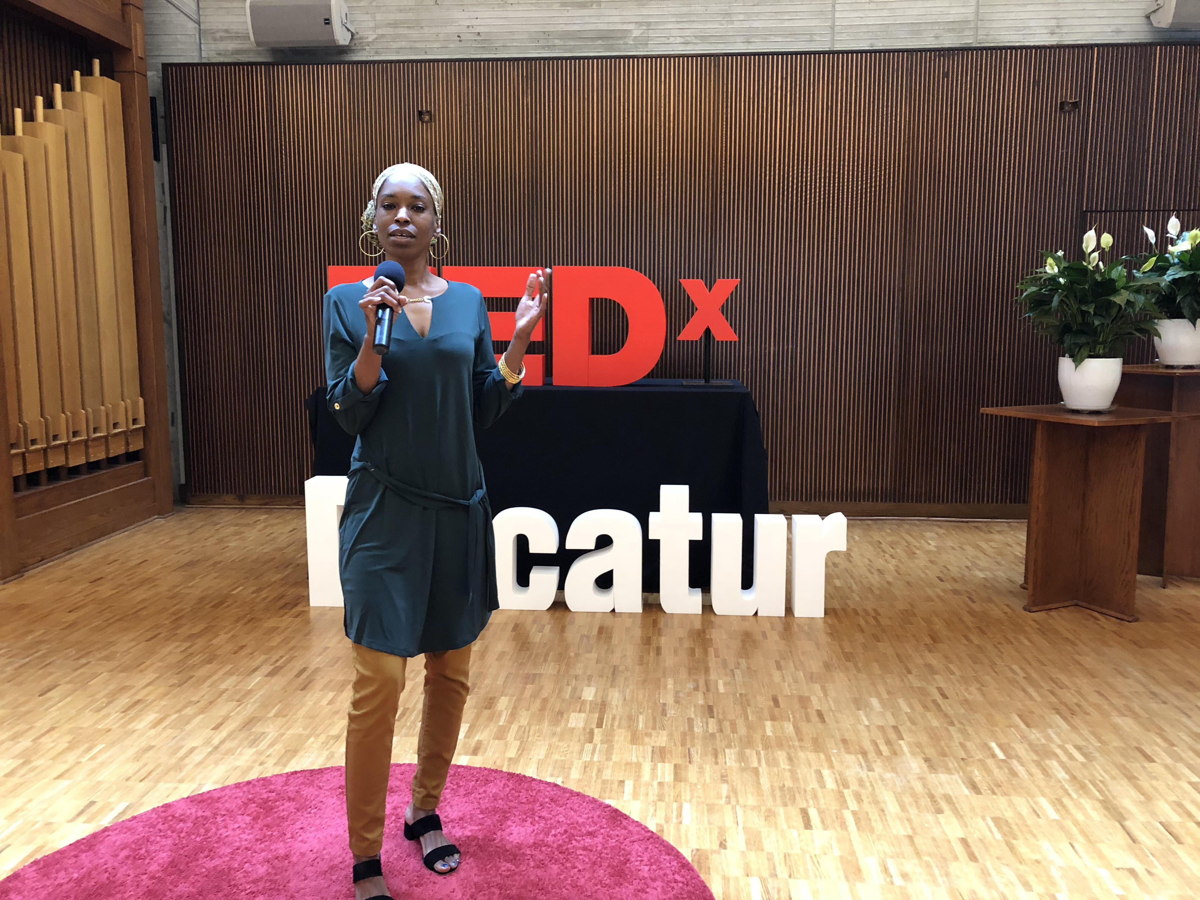 Life University student and Chillon scholarship recipient Kareemah Hanifa delivers a TEDx Talk